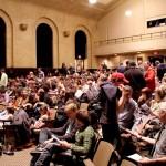 Audience of jugglers