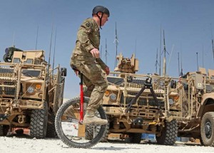 Unicyclist at Bagram