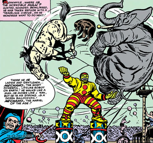 The Hulk juggles circus animals