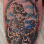 Vincent Edfeldt's spooky skeleton tattoo