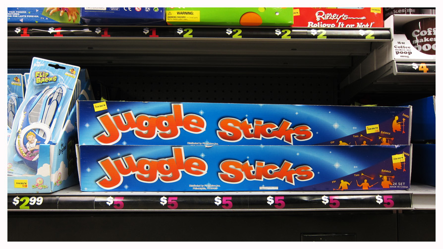 """Juggle sticks"""